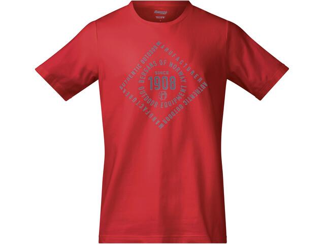Bergans 1908 - T-shirt manches courtes Homme - rouge
